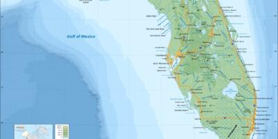 Topografisk karta Florida